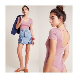 NEW Anthropologie Cupro Bodysuit